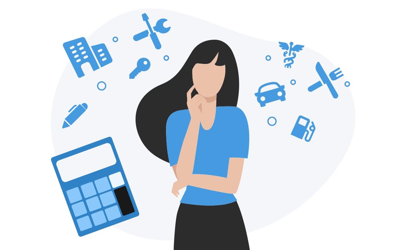 Autónoma pensando en cómo contabilizar sus gastos deducibles