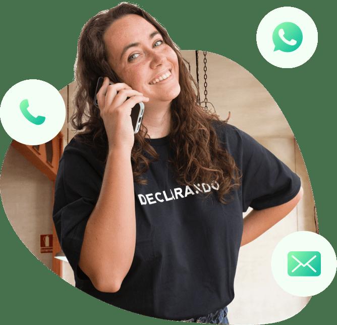 Asesora fiscal de la plataforma de asesoramiento para autónomos, Declarando, al teléfono