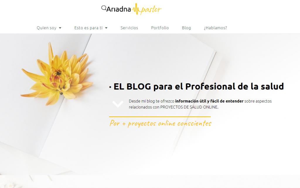 Ejemplo del blog de Ariadna Pastor